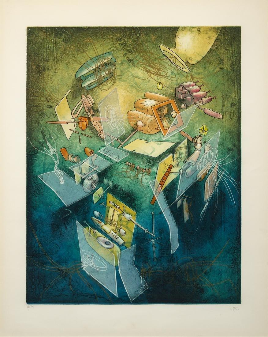 Roberto Matta (Chilean, 1911-2002) Oeuvre L'Instant