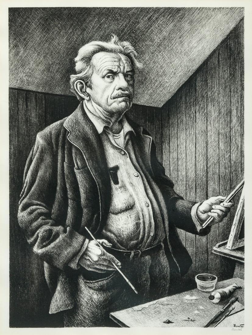 Thomas Hart Benton (American, 1889-1975) Self Portrait,