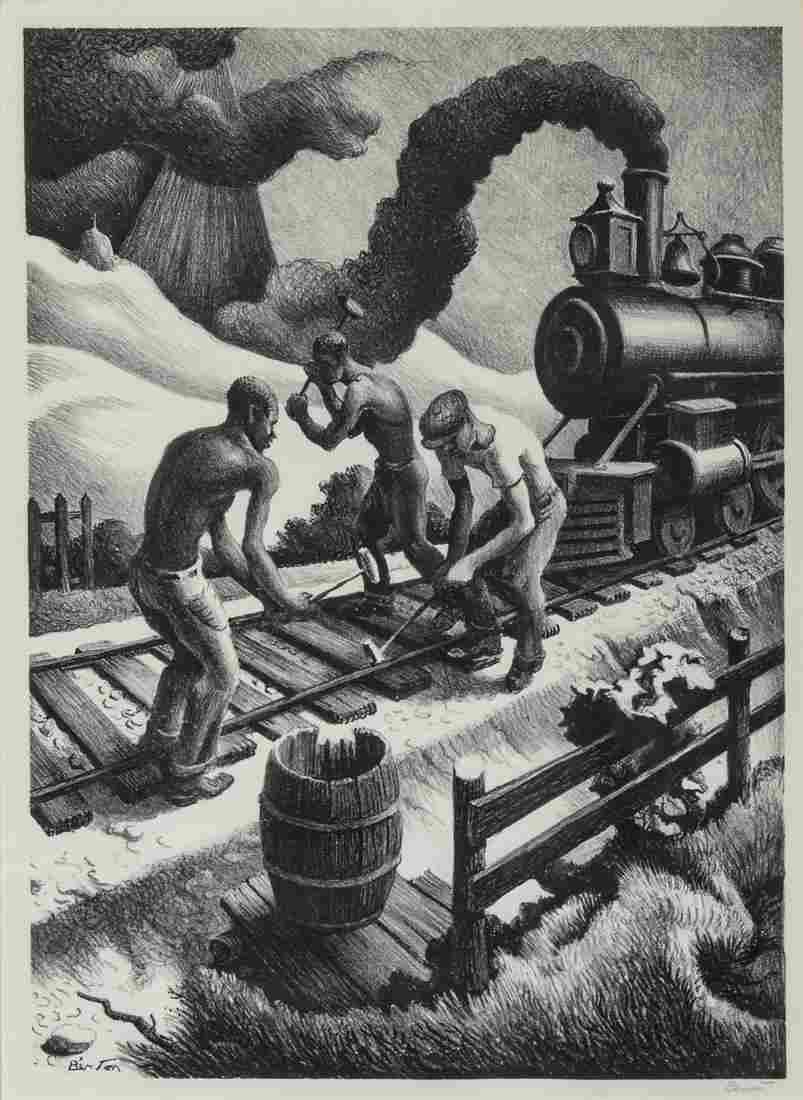 Thomas Hart Benton (American, 1889-1975) Ten Pound