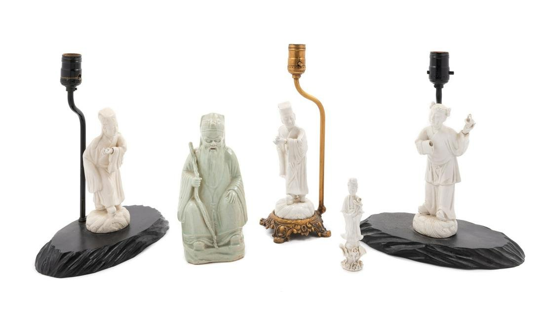Five Chinese Porcelain Figures Tallest overall: height