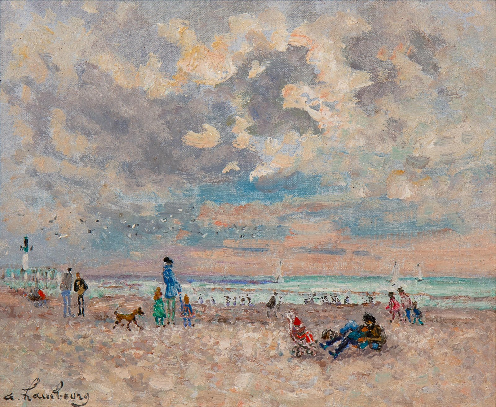 Andre Hambourg (French, 1909-1999) Temps doux, sur la