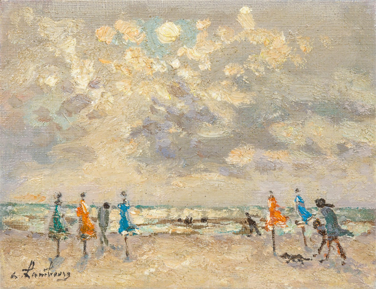 Andre Hambourg  (French, 1909-1999) Maree basse a