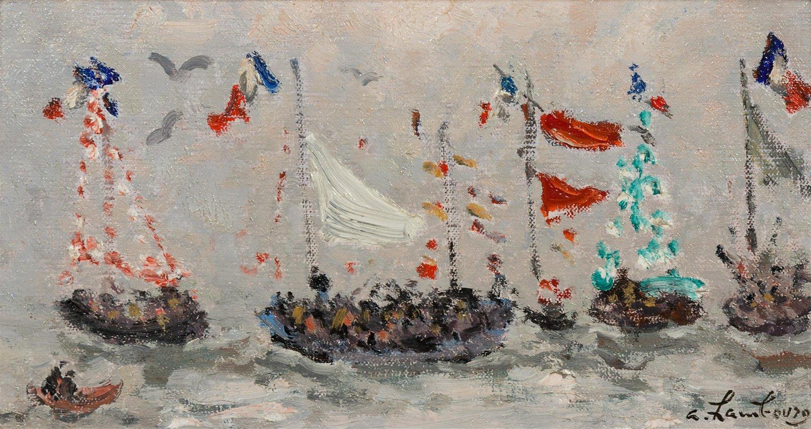 Andre Hambourg (French, 1909-1999) Bateaux en fete