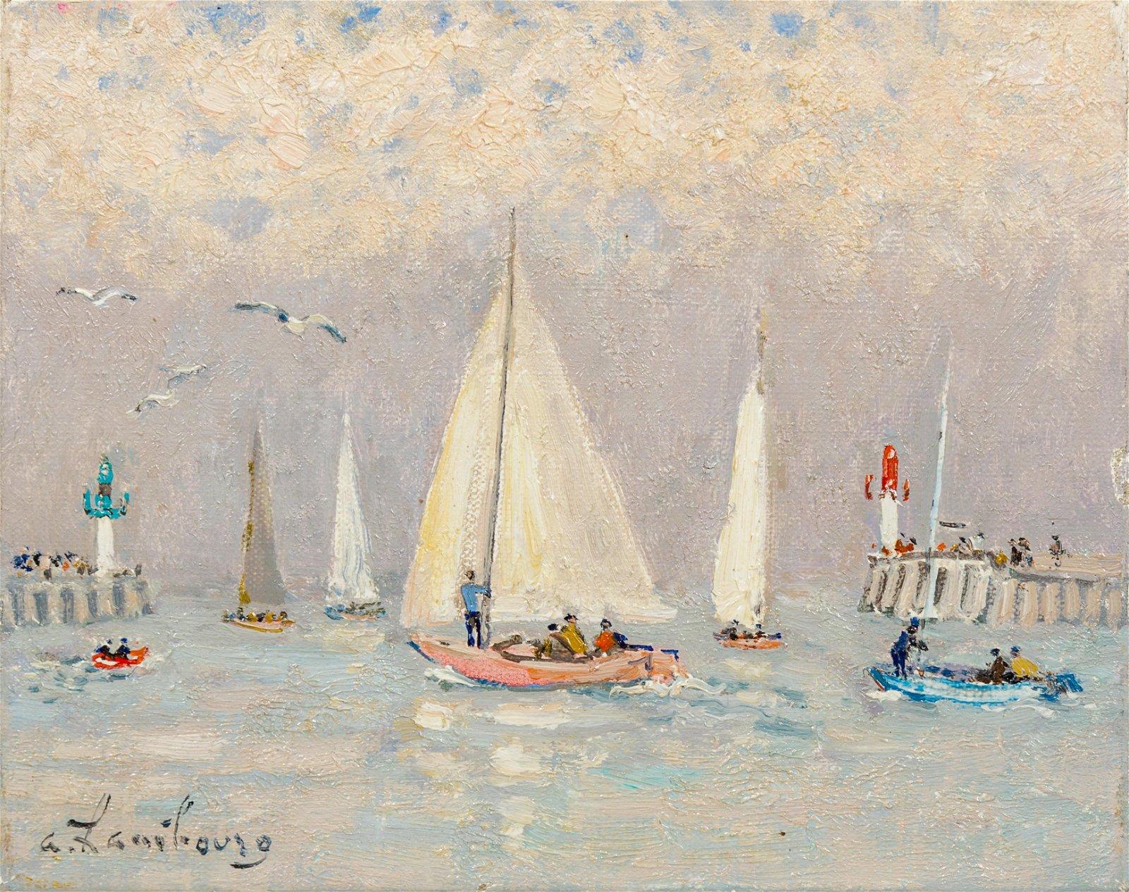 Andre Hambourg (French, 1909-1999) Sur la Touques
