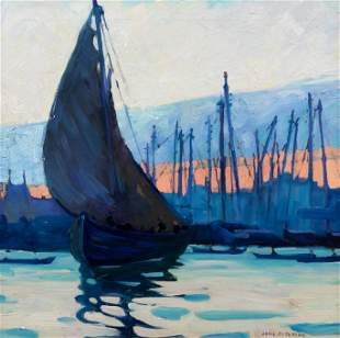 Jane Peterson (American, 1876-1965) Gloucester Harbor,