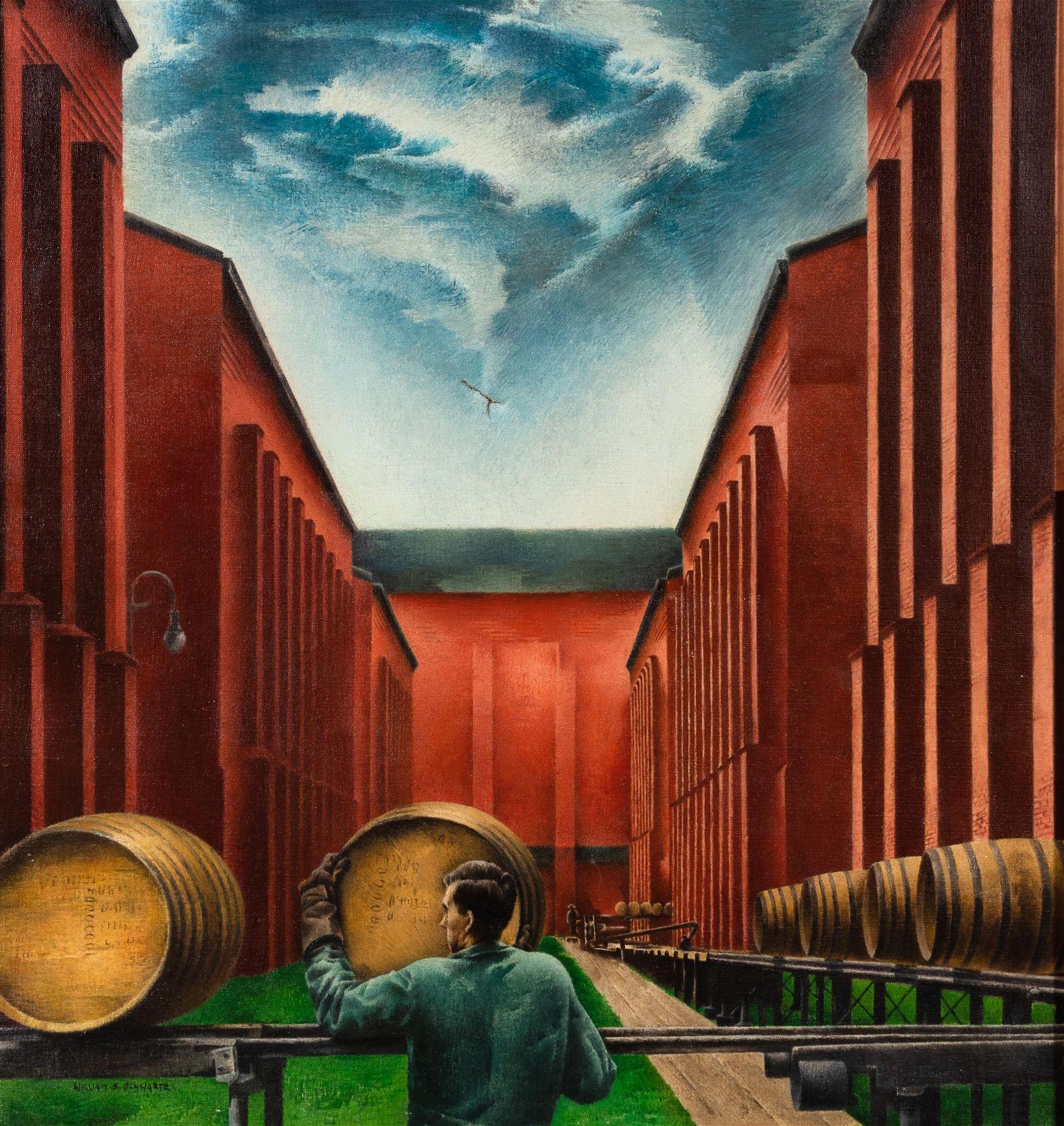 William Schwartz (American, 1896-1977) Whiskey Rolling