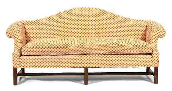 A George III Style Mahogany Camel Back Sofa Height 37