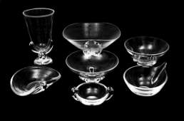 A Group of Seven Steuben Crystal Articles 20TH CENTURY