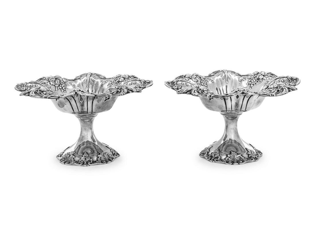 A Pair of American Silver Compotes Reed & Barton,