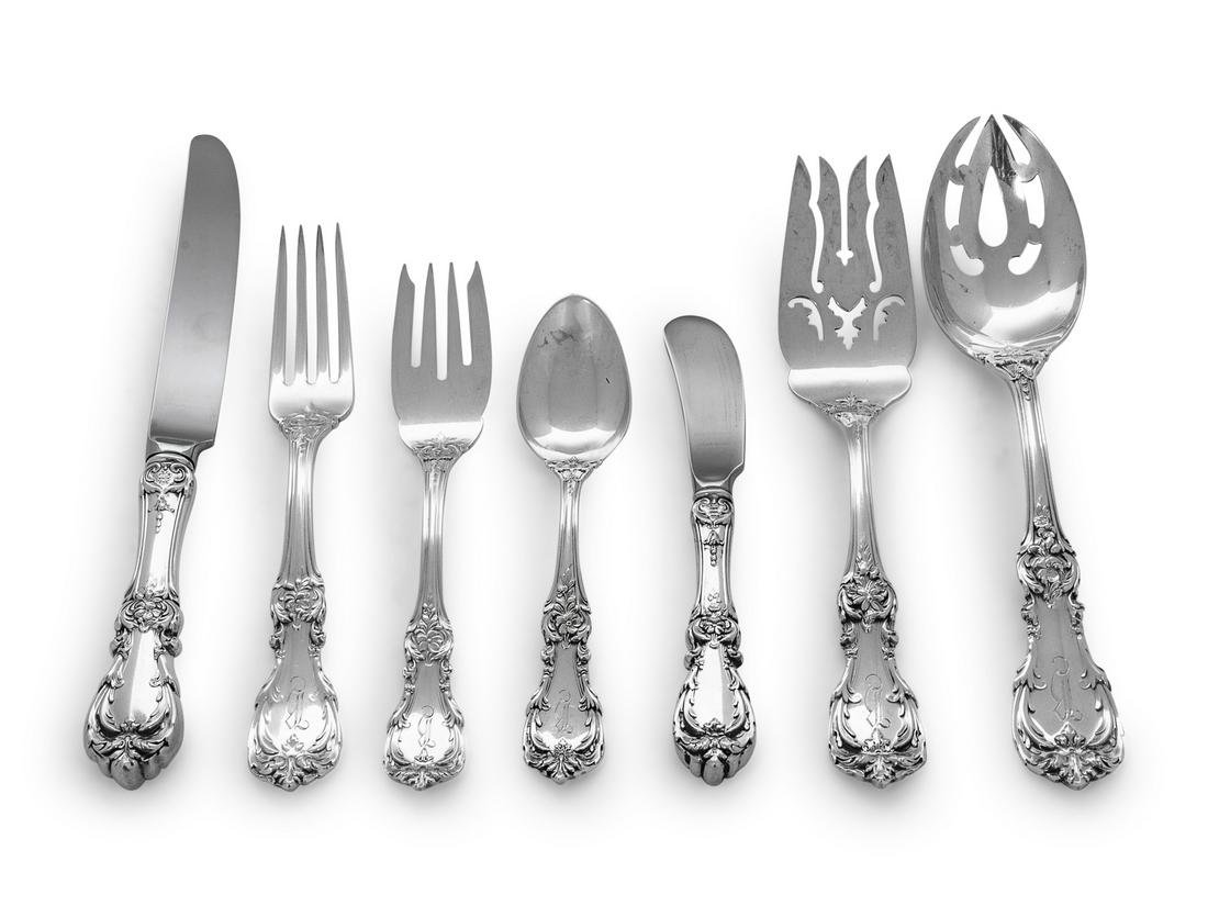 An American Silver Flatware Service Reed & Barton,
