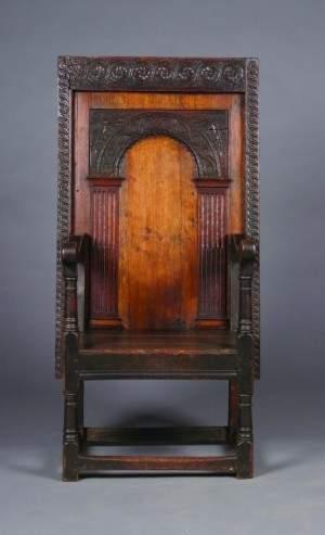 An Elizabethan Oak Metamorphic Chair/Table, Height o