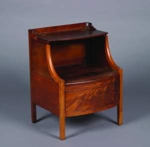 A George III Mahogany Bedside Commode, Height 29 3