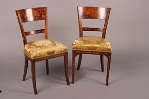 11F: A Pair of Dutch Baroque Mahogany and Marquetry Sid
