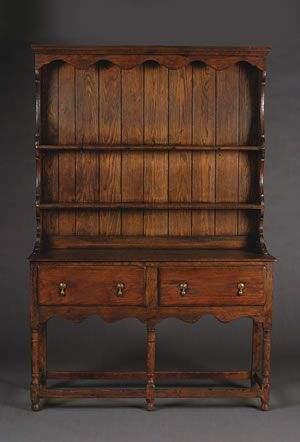 An Welsh Oak Dresser, Height 82 x width 53 x depth