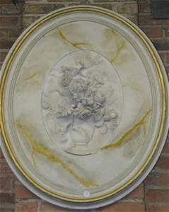 305: A Carved Marble Plaque, Height of marble plaque 18