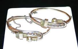 1141 Two Ladys Victorian Bangle Bracelets