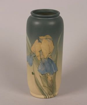 1258: A Weller Vase, Height 9 1/4 inches.