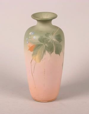 1261: A Louwelsa Weller Pottery Vase, Height 11 inches.