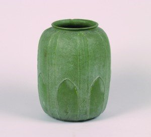 1262A: A Grueby Vase by Annie Lingley, Height 11 inches