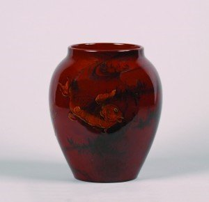 1274: A Rookwood Vase by Matt Daly, Height 7 3/4 inches
