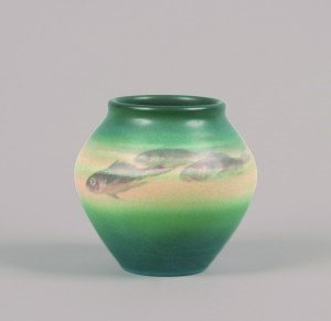 1275: A Rookwood Vase by E.T. Hurley, Height 6 1/2 inch
