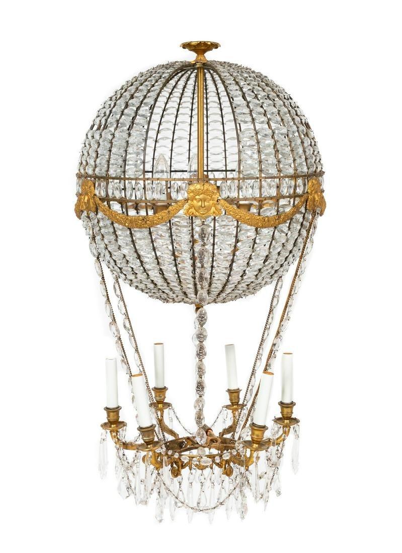 A German Cut Glass Montgolfier Chandelier