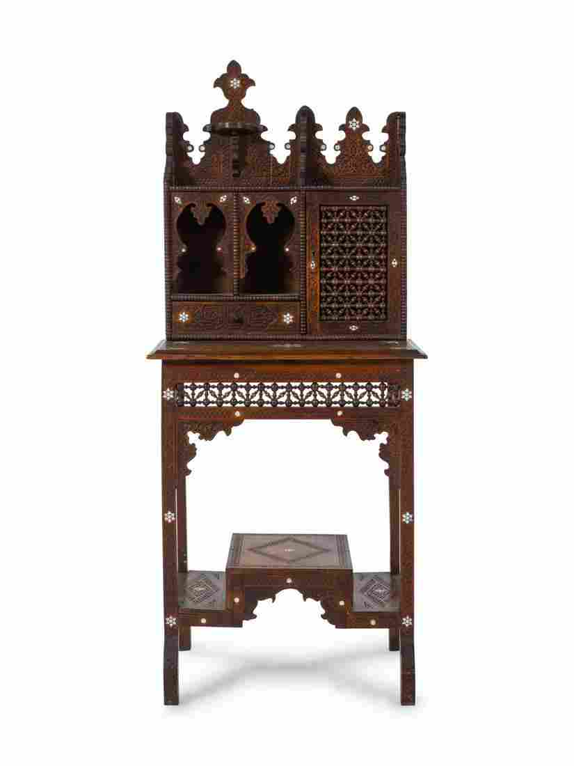 An Egyptian Carved and Inlaid Desk