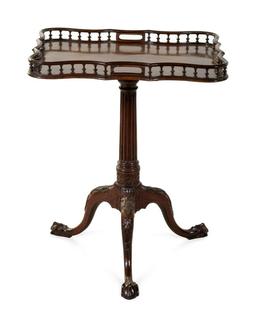 A George III Mahogany Silver Table