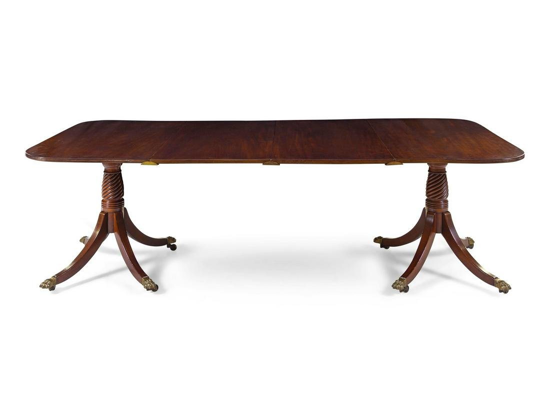 A George III Mahogany Double Pedestal Dining Table