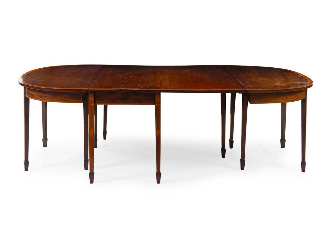 A George III Style Mahogany Extension Dining Table