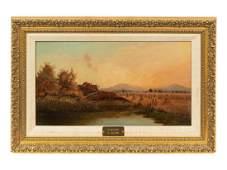 W. Williams (American, 19th Century) Haystacks