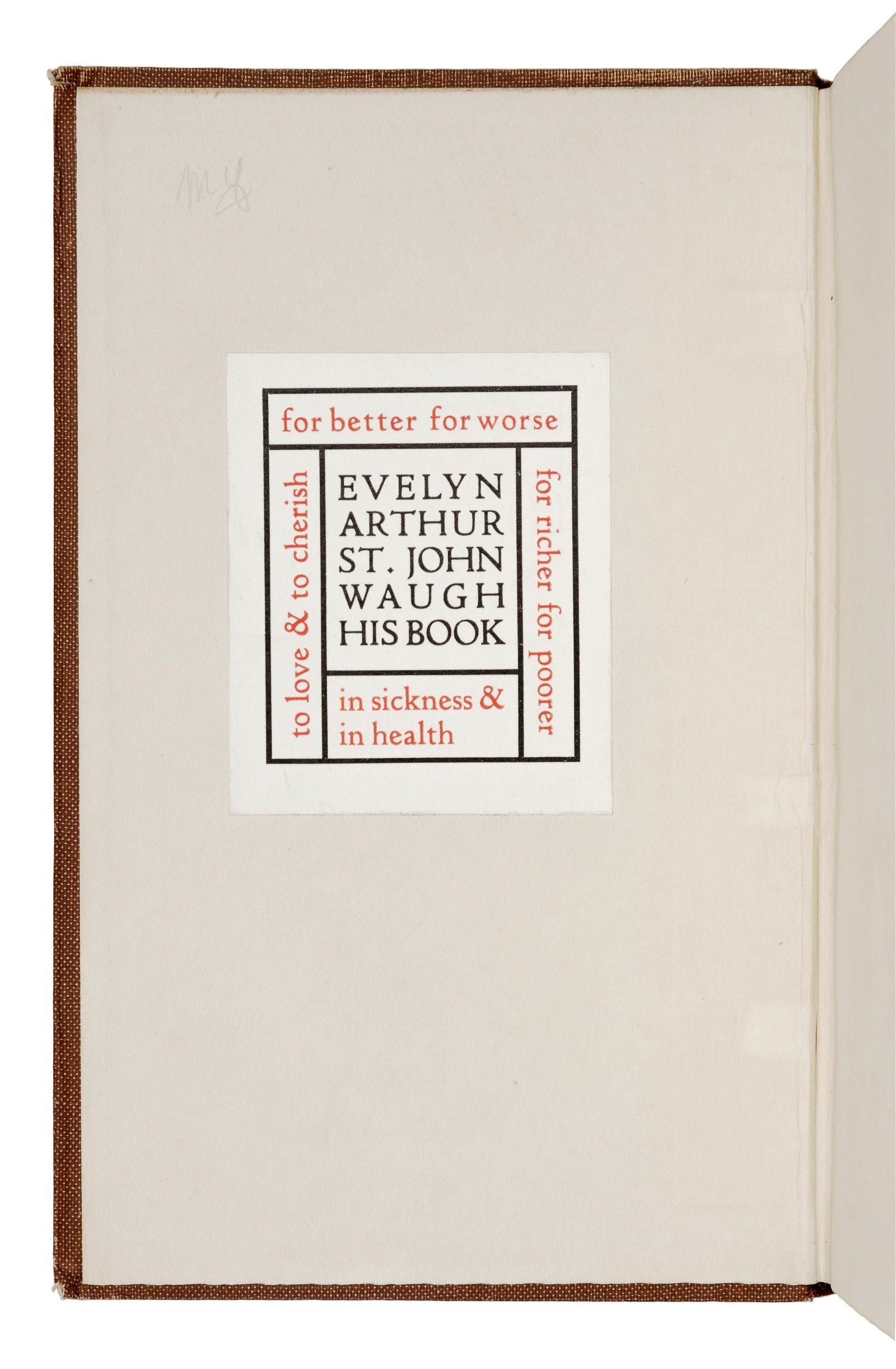 [WAUGH, Evelyn, his copy]. DOUGLAS, Norman (1868-1952).