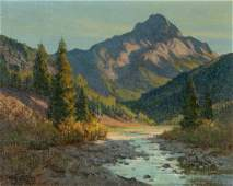 Paul Strisik (American, 1918- 1998) Evening Light -
