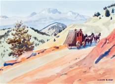 Leonard Howard Reedy (American, 1899-1956) Stagecoach
