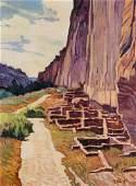 Robert Daughters (American, 1929-2013) Long House Path