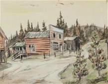 Muriel Sibble Wolle (American,1898-1977) Old Western