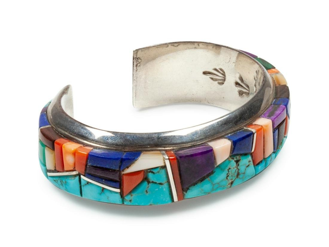 Wes Willie (Dine, b. 1957) Sterling silver cuff