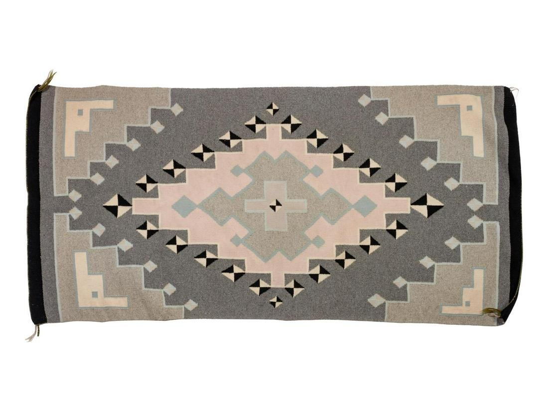 Navajo Two Grey Hills Weaving 52 1/2 x 25 inches