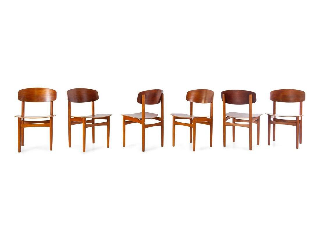 Borge Mogensen  Set of Six Dining Chairs Soborg