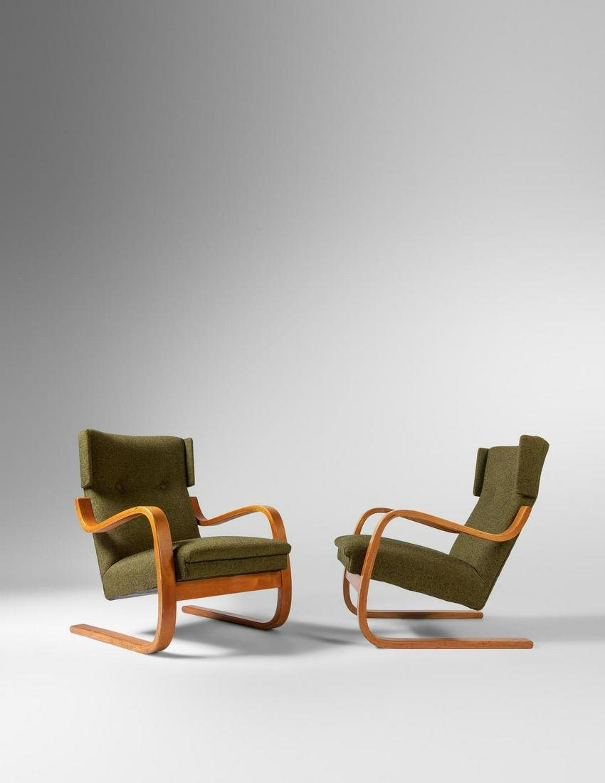 Alvar Aalto  A Pair of Model 36 Lounge ChairsFinmar,