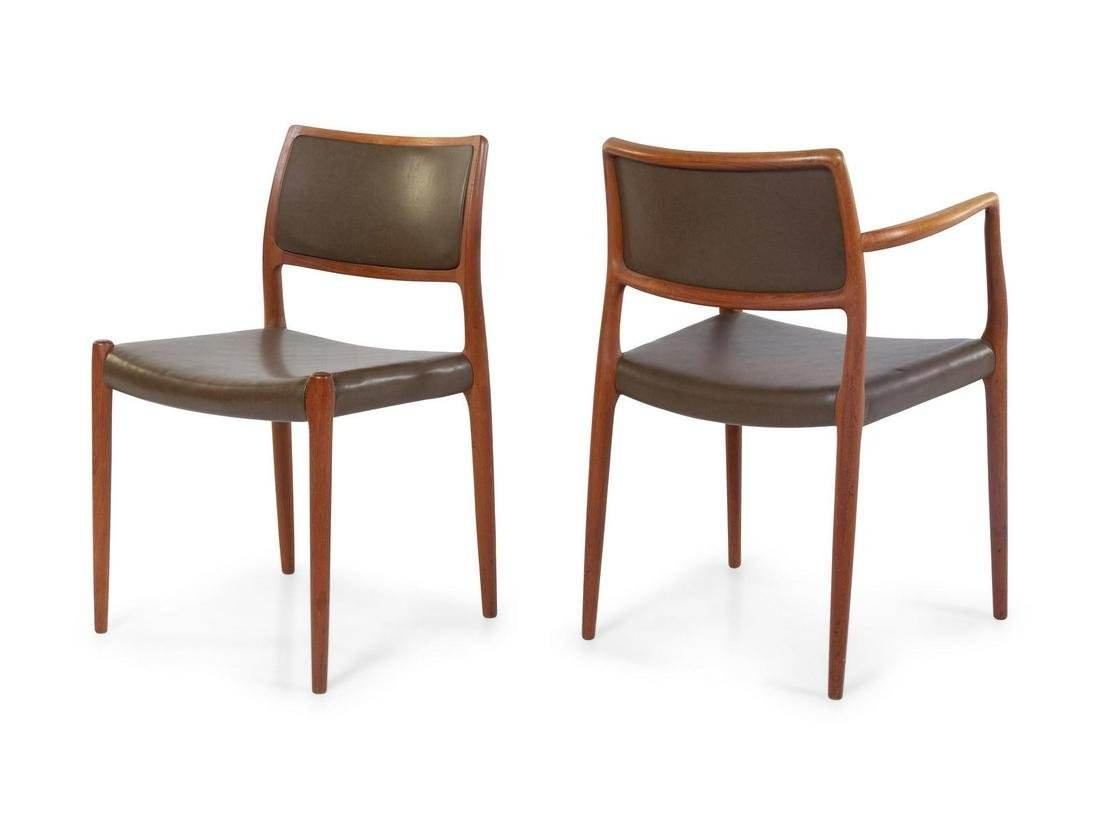 Nils Otto Moller  Two Dining Chairs J. L. Mollers
