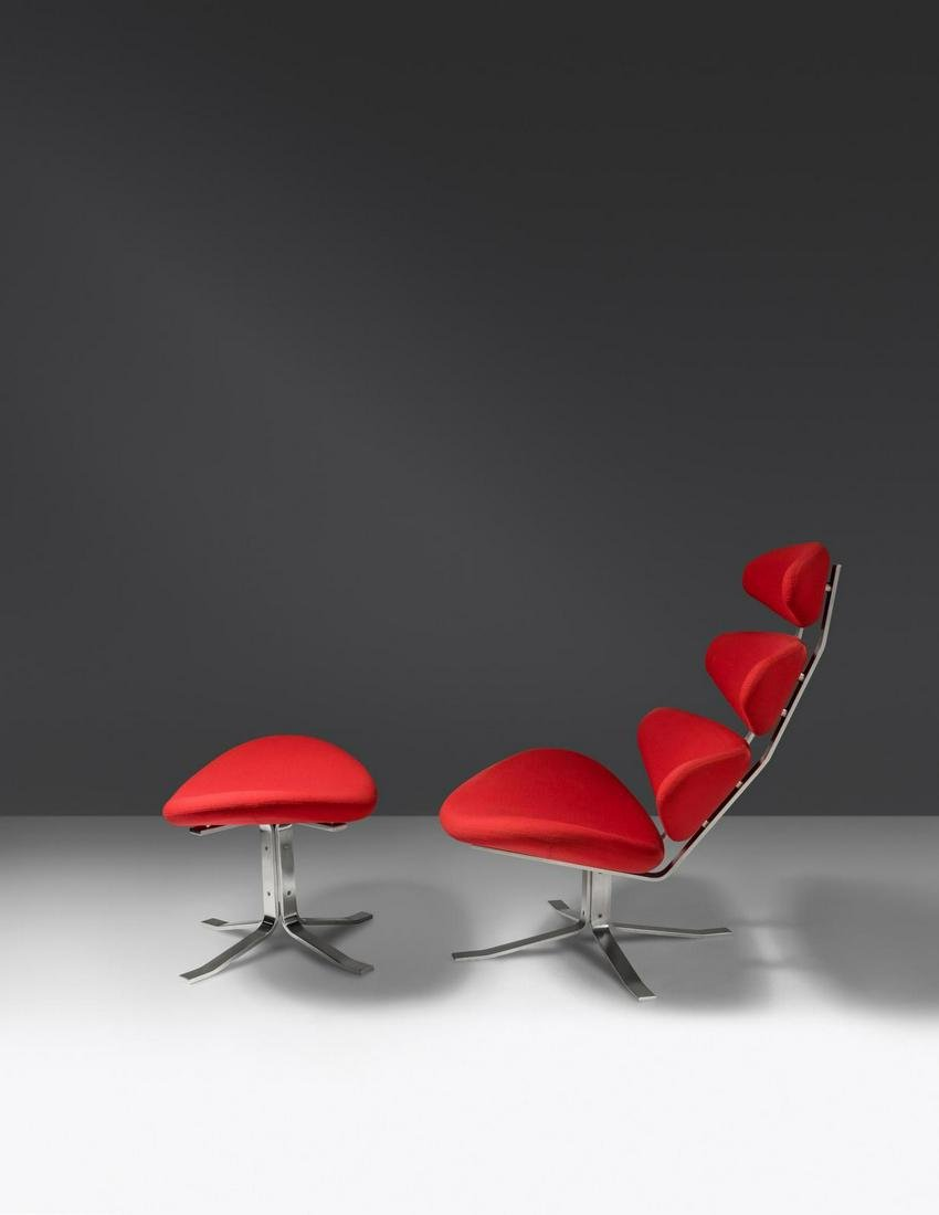 Poul Volther  Corona Lounge Chair and Ottoman Erik