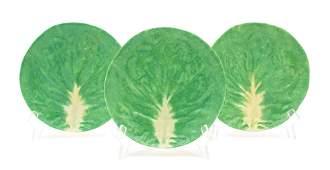 A Set of Twelve Dodie Thayer Lettuceware Salad Plates