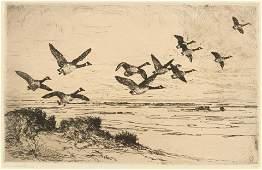 Frank Weston Benson (American, 1862-1951) Wild Geese,