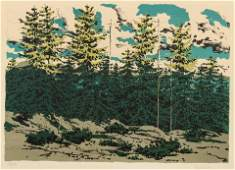 Neil Welliver (American, 1928-2005) Maine Landscape,