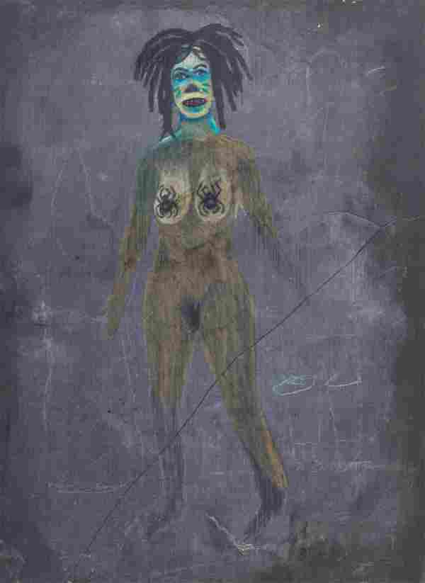 Tony Fitzpatrick (American, b. 1958) Untitled( pair of