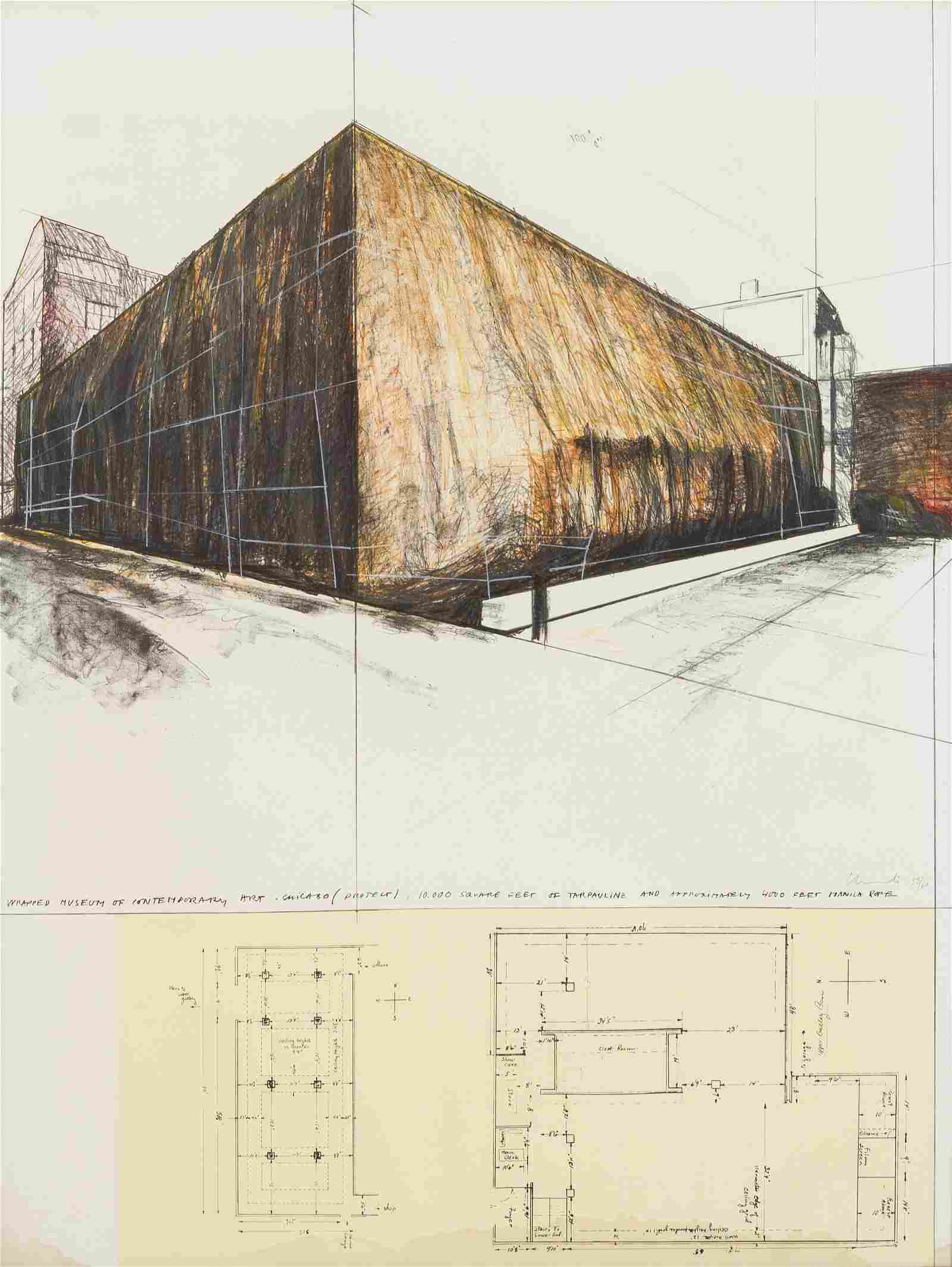 Christo (American, b. 1935) Wrapped Museum of