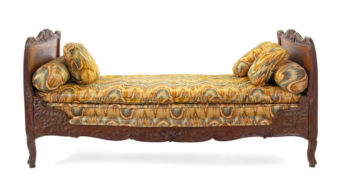 A French Provincial Walnut Daybed