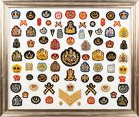 A Framed Collection of English Patches