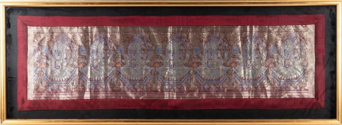 A Southeast Asian Framed Silk Embroidery
